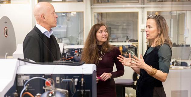 Per Andrén leder Spatial Mass Spectrometry-enheten, Dominika Luptakova är postdok vid SciLifeLab och Mia Phillipson