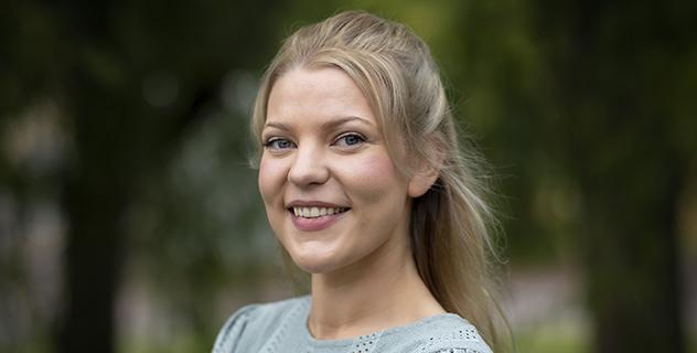 Andrea Benediktsdottir, doktorand vid institutionen för läkemedelskemi